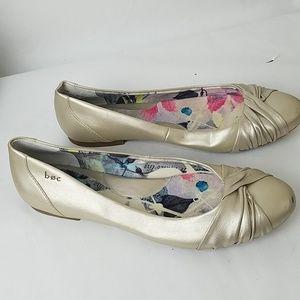 BOC Gold Ballet Flats